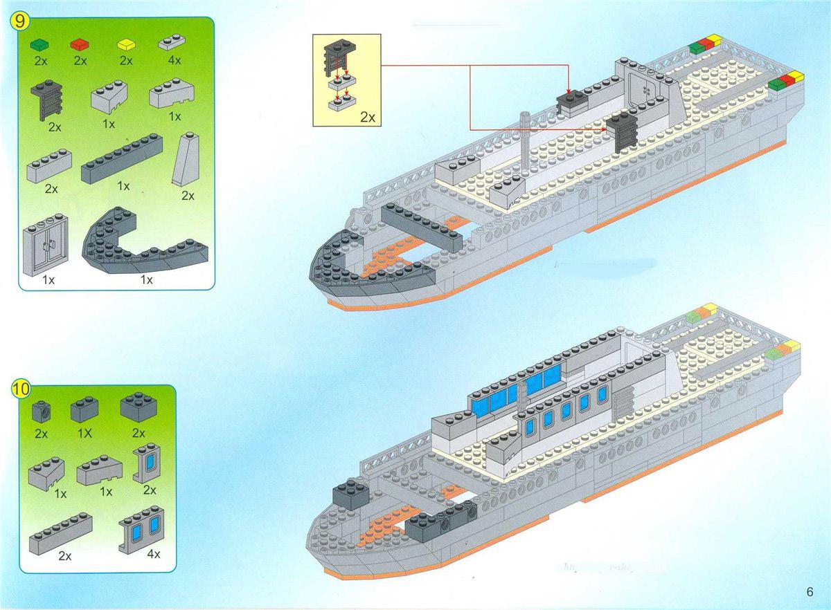 Как сделать из лего корабль по инструкция 852