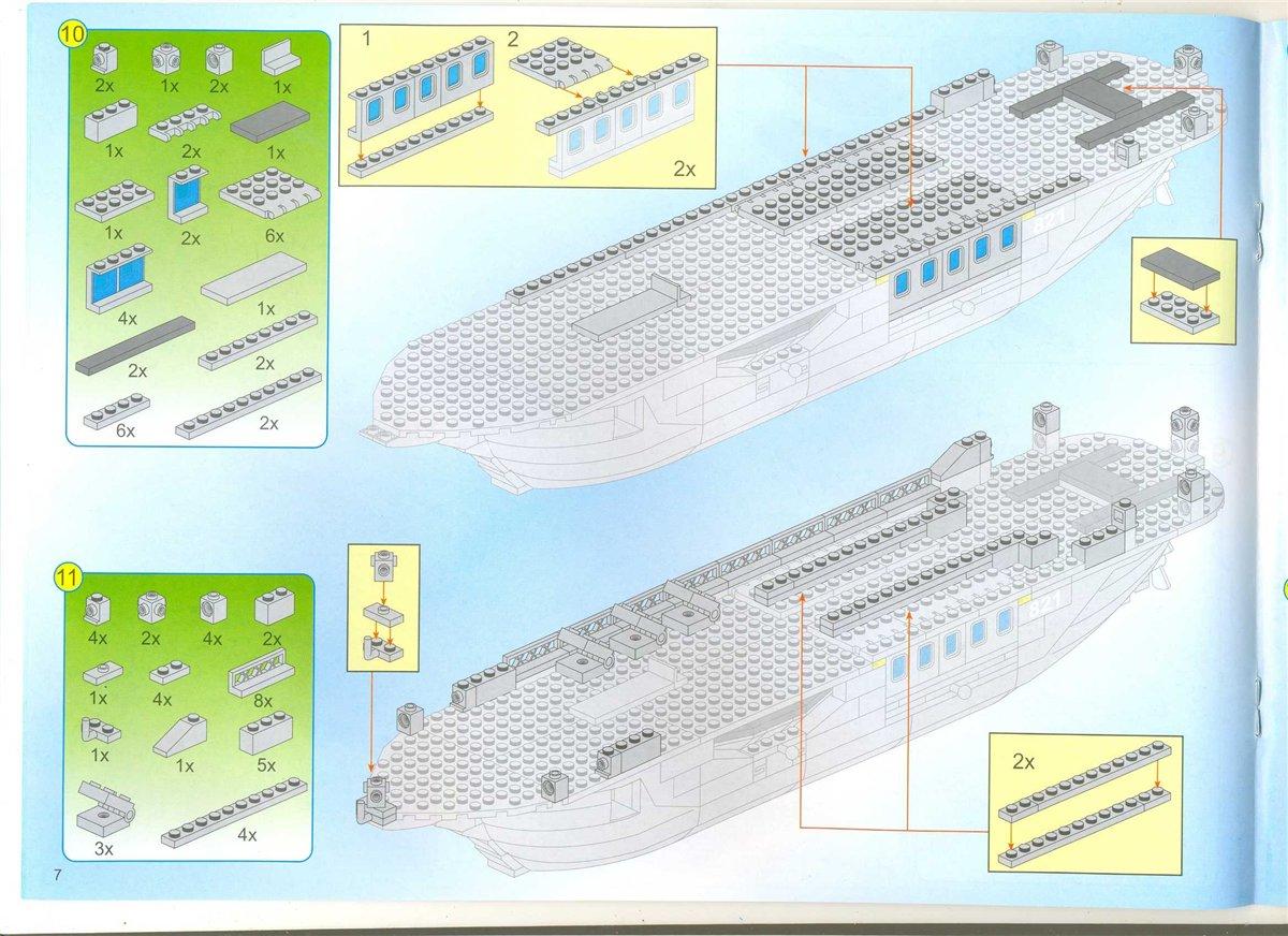 Как сделать из лего корабль по инструкция 393
