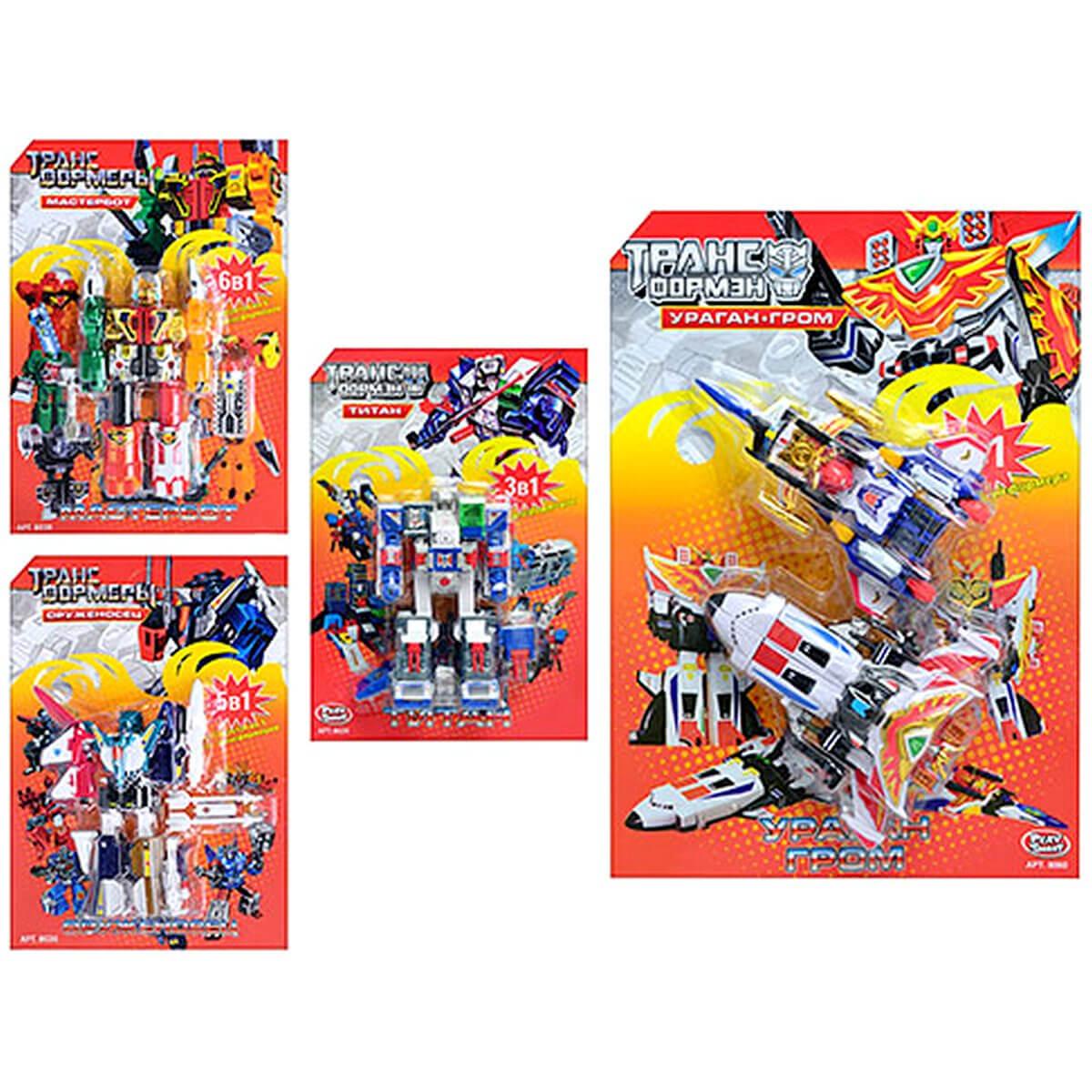 Joy Toy Трансформеры 4 вида 8026-29-30-60