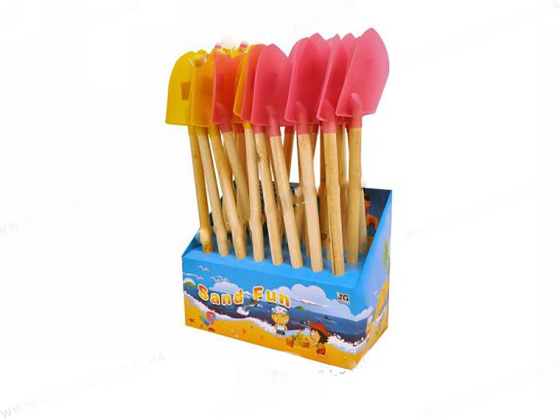 bk toys ltd. Лопатка с деревянной ручкой HC302C