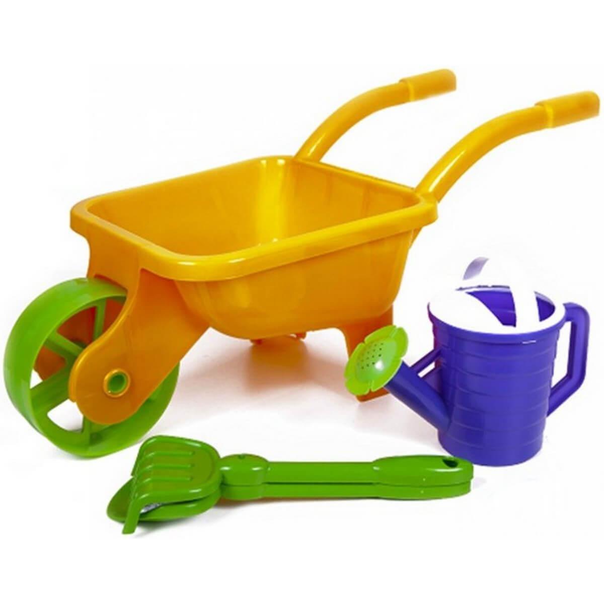 Детская тачка с набором для песочницы 01-124