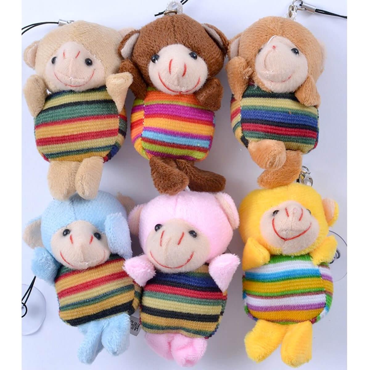 Набор мягких игрушек Обезьянка-брелок 1253-504