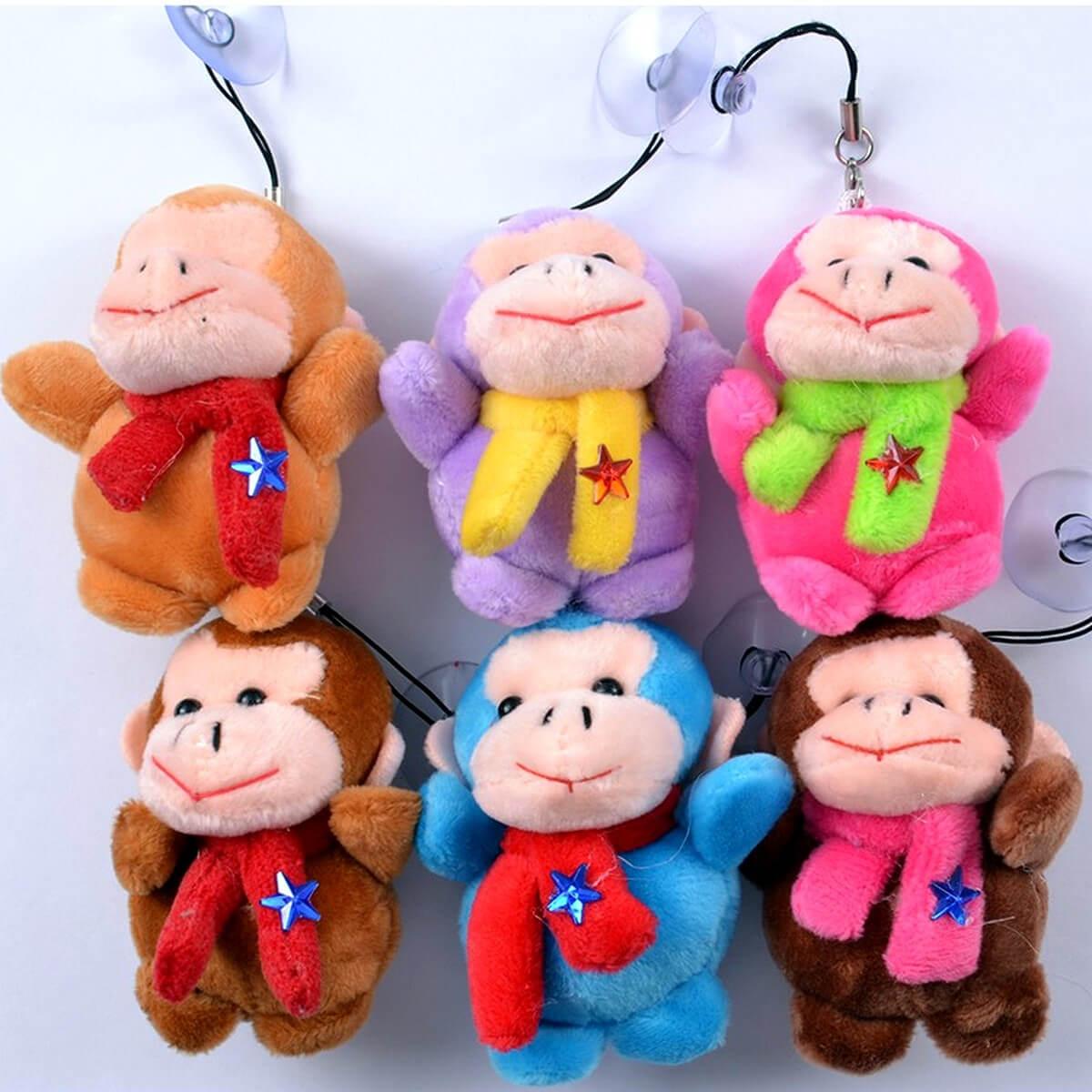Набор мягких игрушек-брелков Обезьянки 1253-509