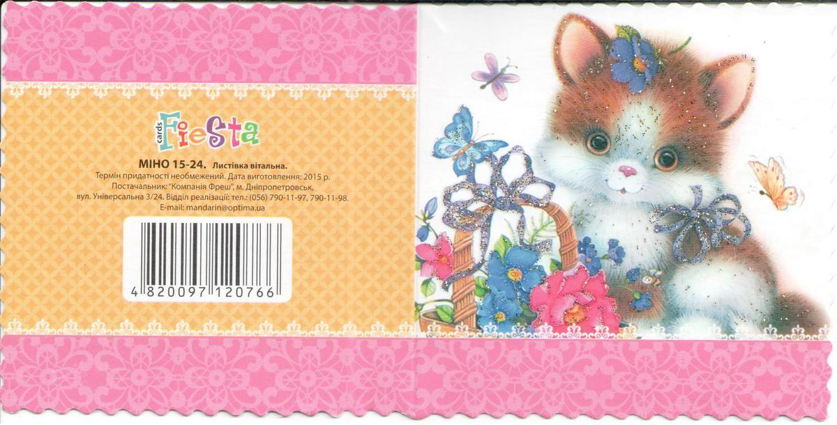 Мини-открытка «Котенок» МІНО15-24