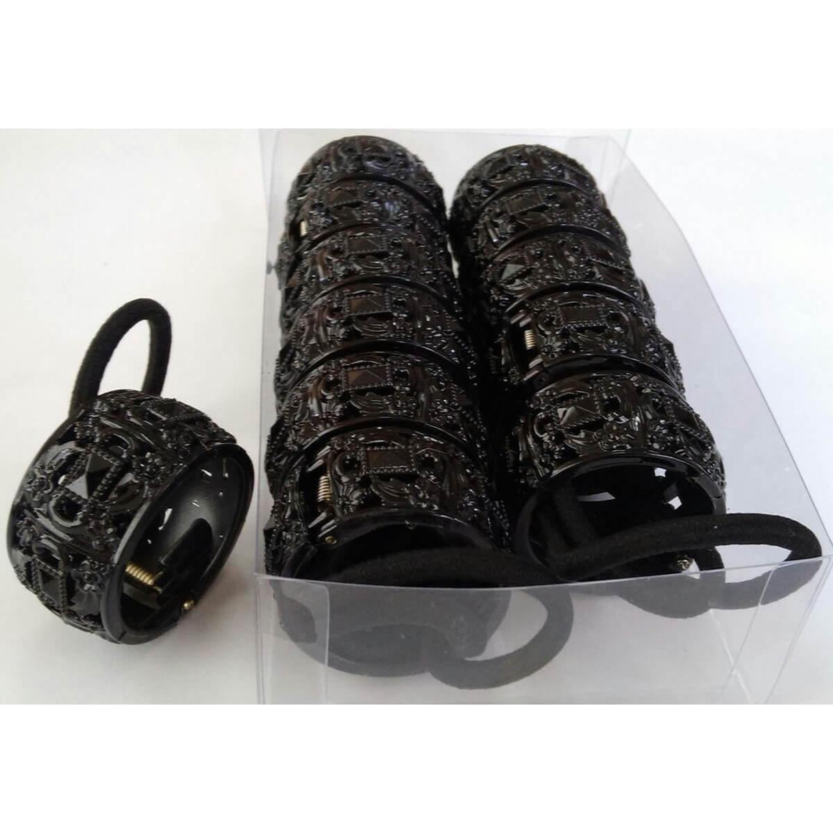 Набор черных резинок для волос «Втулка» 3731003