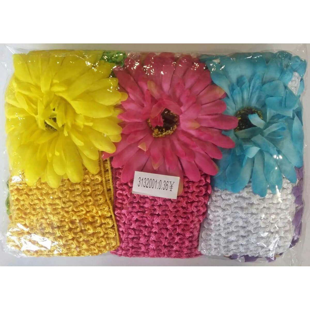 Набор больших повязок для волос «Цветок» 10001