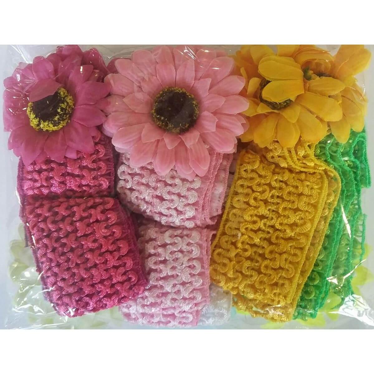 Набор маленьких повязок для волос «Цветок» 10002