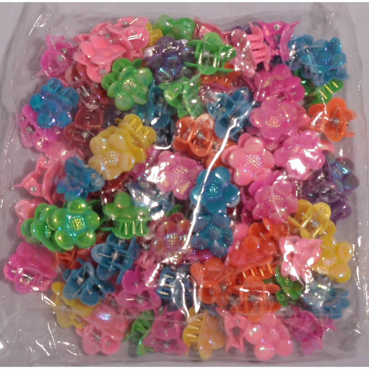 Крабики разноцветные для волос «Цветок» 3607001