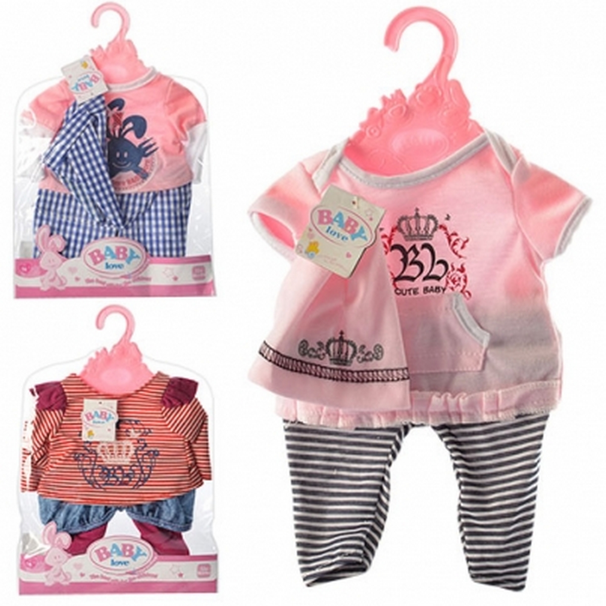baby doll Одежда для пупса 3 вида BLC14-08-02