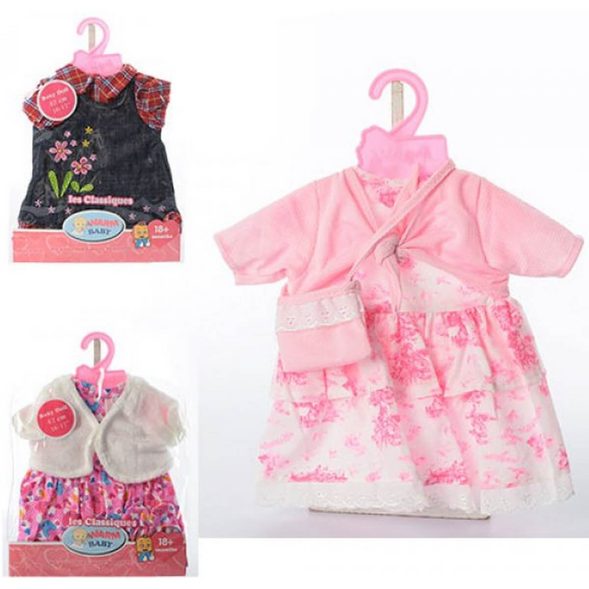 baby doll Одежда для пупса 3 вида BJ-05012ABD