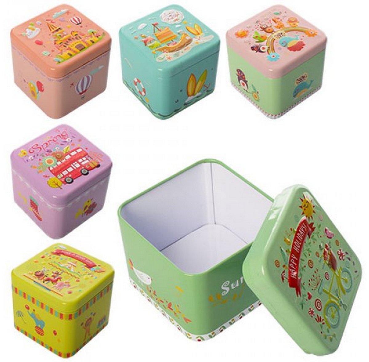 bk toys ltd. Шкатулка 6 видов металлическая X11499