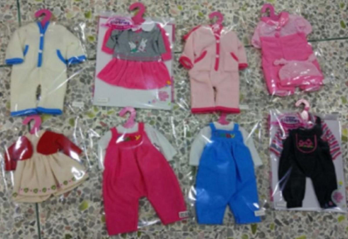 baby doll Одежда для пупса на вешалке 8 видов WEI-GCM6
