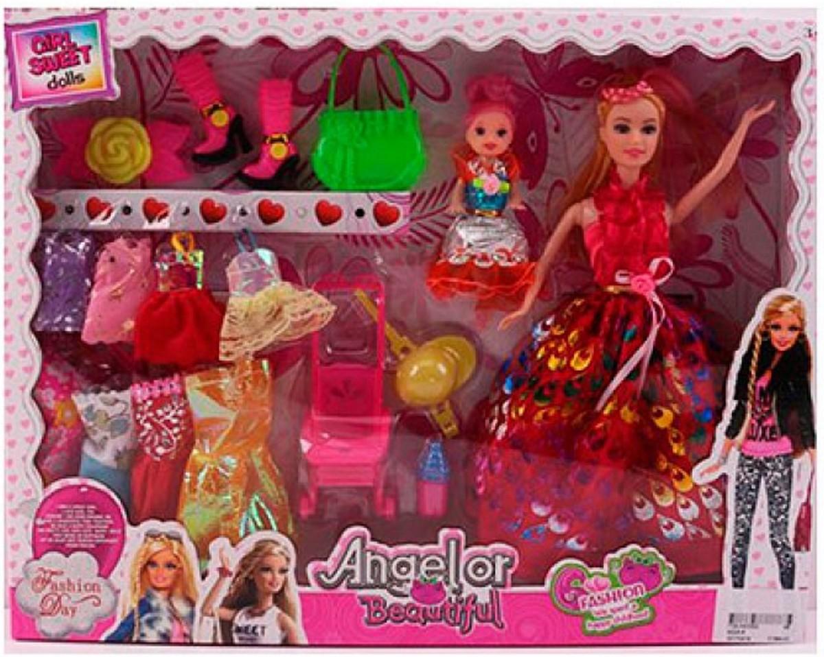 Кукла с нарядами и дочкой с коляской 622A-6 купить в ...