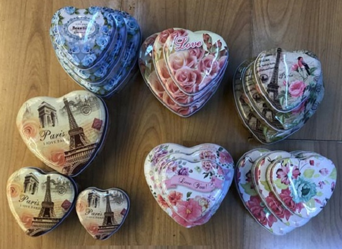 bk toys ltd. Шкатулка металлическая 3в1 «Сердце» C24524