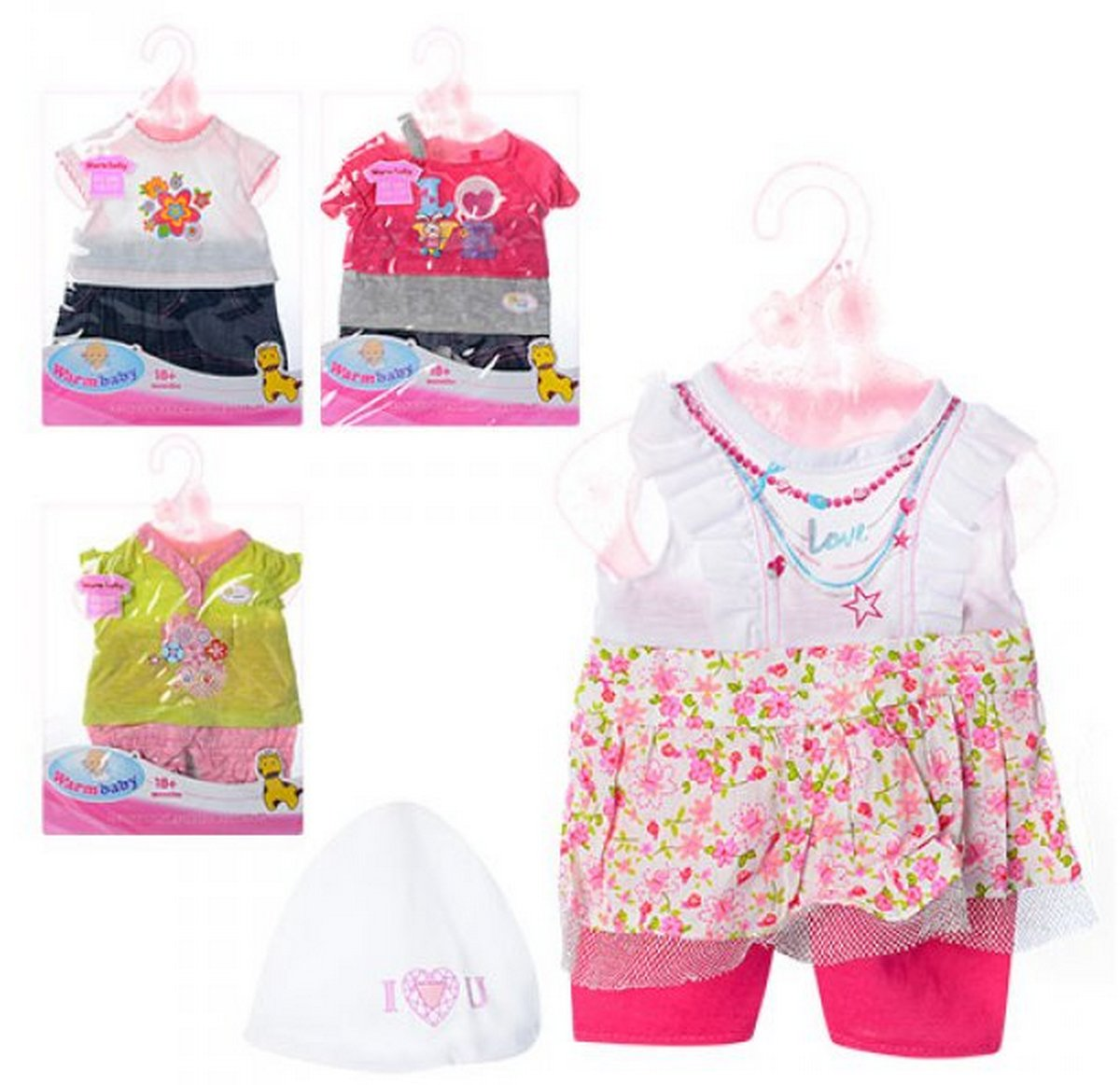 baby doll Наряд для пупса 4 вида DBJ-455-468