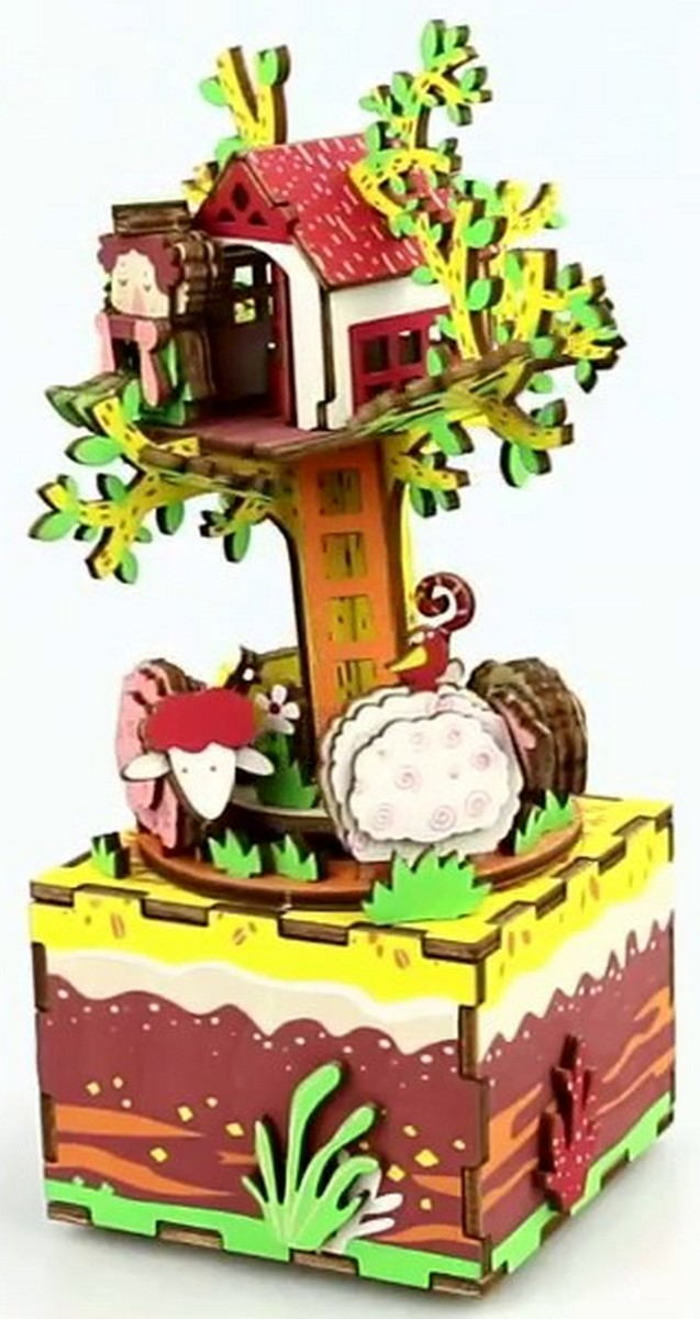 Музыкальная шкатулка-конструктор RoboTime «Домик на дереве» AM408