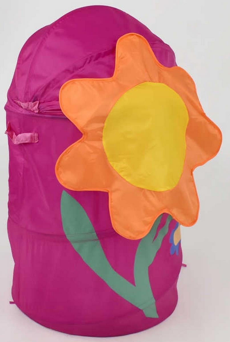 bk toys ltd. Корзина для игрушек розовая «Цветок» F21496