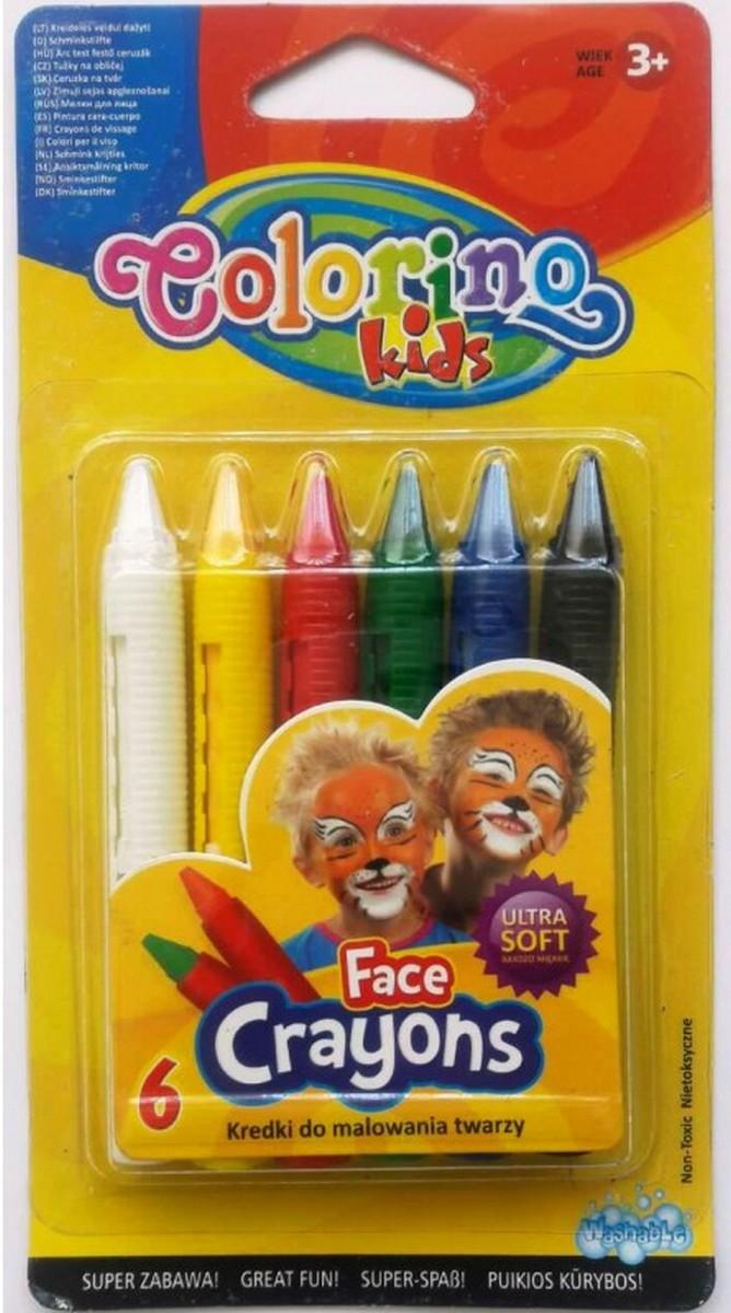 Мел для лица 6 цветов 32629
