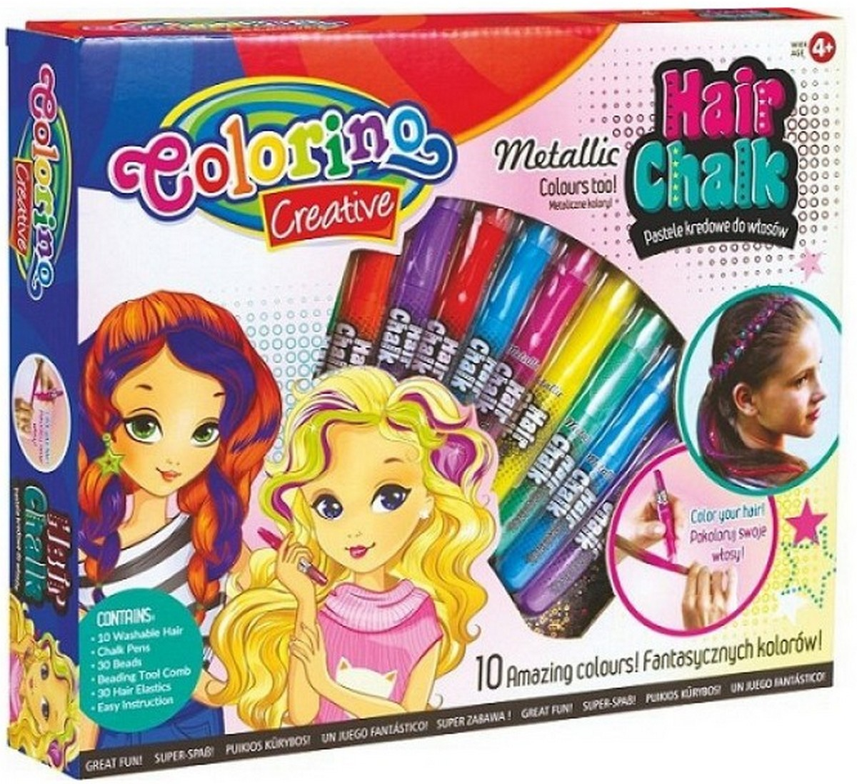 Краски для волос Colorino 10 цветов 68635