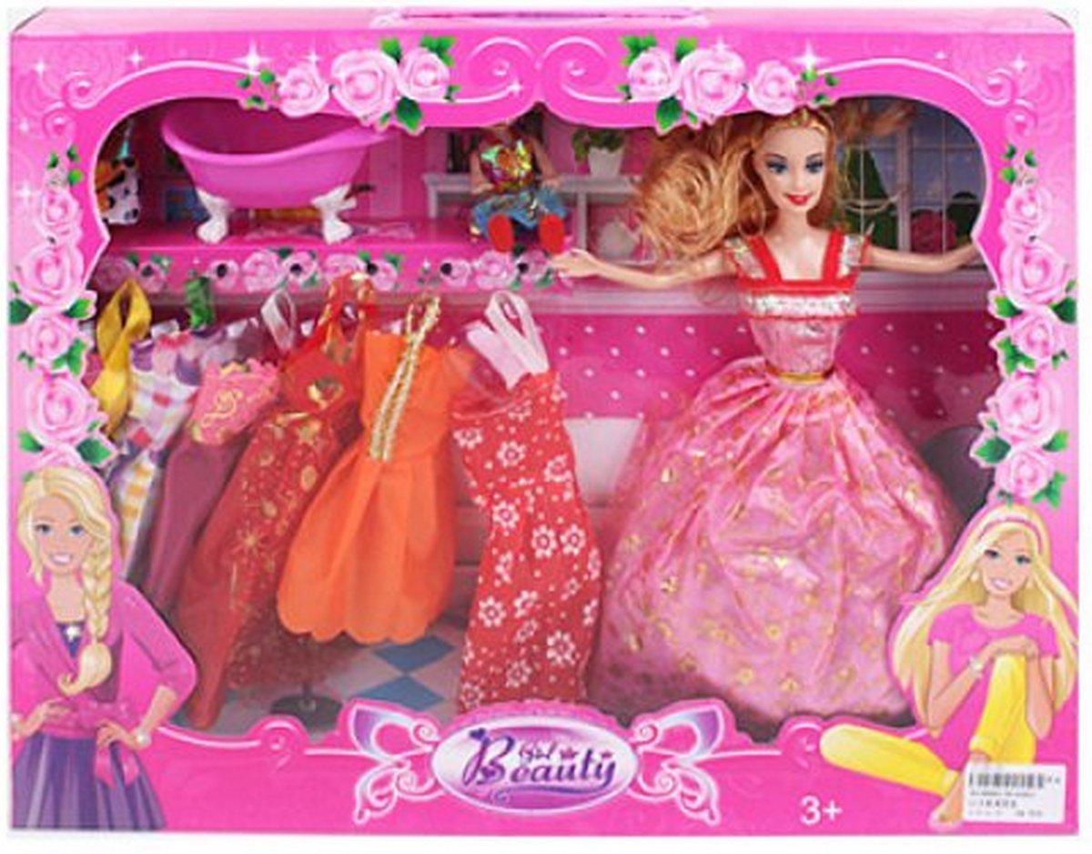 Кукла с дочкой ванночкой и платьями 8144E2 купить в ...