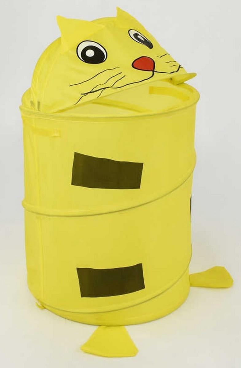 bk toys ltd. Желтая корзина для игрушек «Котик» A01459