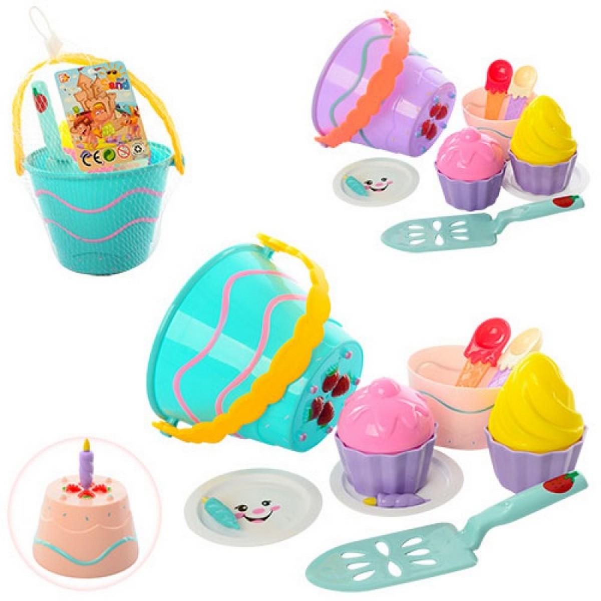 bk toys ltd. Набор для песочницы 2 цвета «Торт» 743