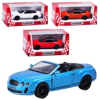 Машинка Kinsmart 2010 Bentley Continental Supersports Convertible KT 5353 W